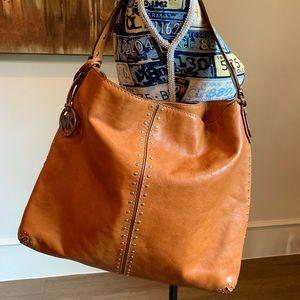 SALE 🎉 Michael Kors Large Brn. Leather Bag GREAT!